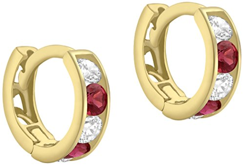 carissima-gold-damen-creolen-9ct-yellow-white-and-red-cubic-zirconia-huggy-earrings-375-gelbgold-zir