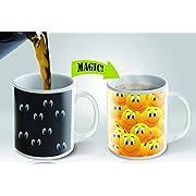 Magic Mug Heat Sensitive Color Changing Coffee Mug, Smiley Design, 11oz