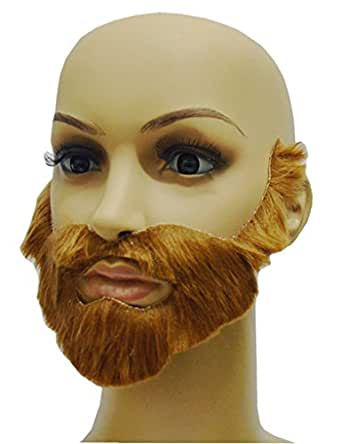 Ninimour-Halloween Prom Mens Black Big Moustache Beard Gift