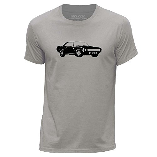 stuff4-herren-x-gross-xl-hellgrau-rundhals-t-shirt-schablone-auto-kunst-camaro-ss-mk1