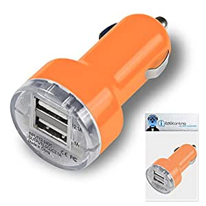 Garmin NuLink 1695 Sat Nav Orange Dual 2.1 / 1 Amp Compact Fast Charge Car Charger Adapter