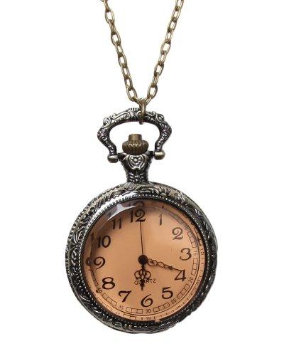 Bronze-Pocket-Watch-Pendant-Necklace