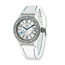 Moog Fashionista Huit Silver Dial/Wht Silicon Strap Watch