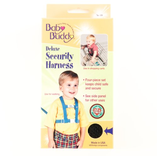 Baby Buddy Deluxe Security Harness Black (Pack Of 6) front-409650