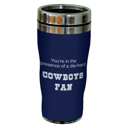 Tree-Free Greetings sg24115 Cowboys Football Fan Sip 'N Go Stainless Steel Lined Travel Tumbler, 16-Ounce at Amazon.com