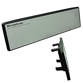 JDM Broadway Clip On Rear View Flat Mirror 240mm Clear Universal cheap COOL