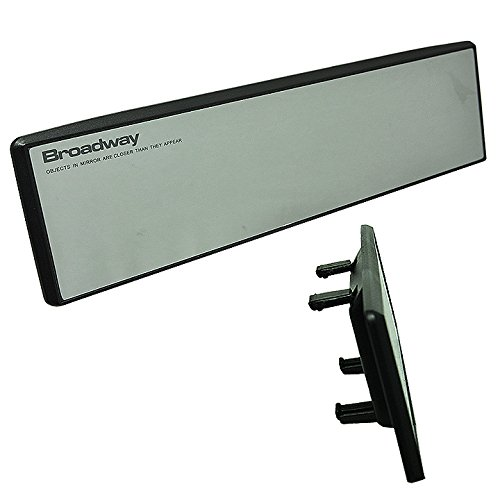 JDM BW-746 Flat 300mm BROADWAY rearview mirror white tint fast ship New CHEAP (Toyota Yaris 2007 Mirror compare prices)