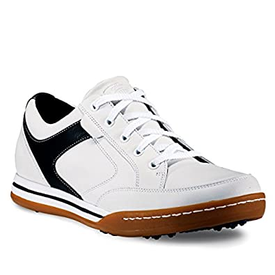 Callaway Del Mar Men's Leather Spikeless Golf Shoe 7 Medium White/Black