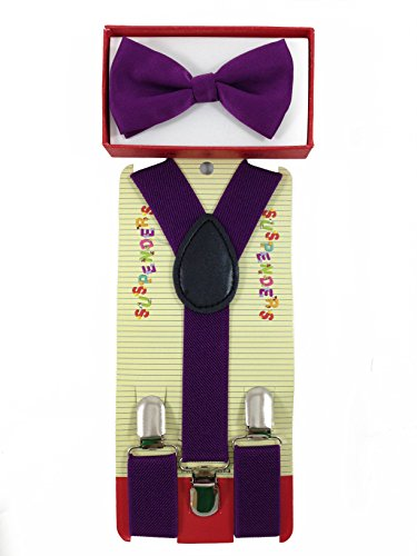 new suspender bow tie matching colors toddler kids boys
