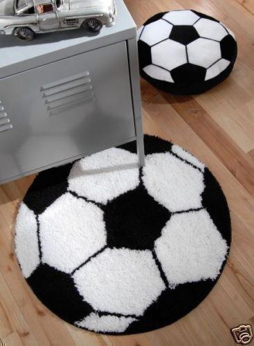 Tappeto Pallone Da Calcio Nero/Bianco