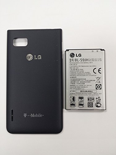 NEW OEM LG Optimus F3 P659 BL-59JH Battery and Black T-Mobile Battery Door Cover Housing Replacement o4l Set (Boost Mobile Phone Lg F7 compare prices)