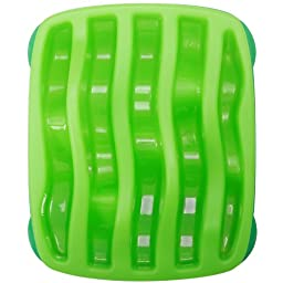 Outward Hound Kyjen  2874 Slo-Bowl Slow Feeder Slow Feed Interactive Bloat Stop Dog Bowl, Large, Green