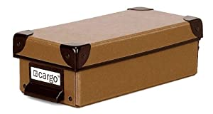 Cargo Naturals Pencil Box, Nutmeg, 3 by 9-1/2 by 4-1/2-Inch