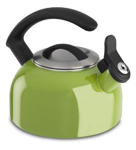 Kitchenaid 1.5-quart Remv Lid Tea Kettle Whistle Kten15ankl Sunkissed Lime Green