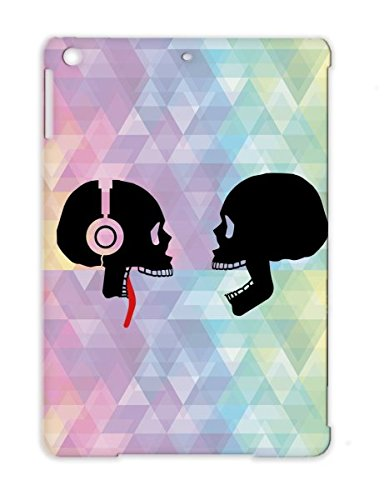 Headphones, Skull, Tongue, Music Red Face Dance Satire Party Funny Skull Disco Brain Head Tongue Out Funny Club Case For Ipad Air