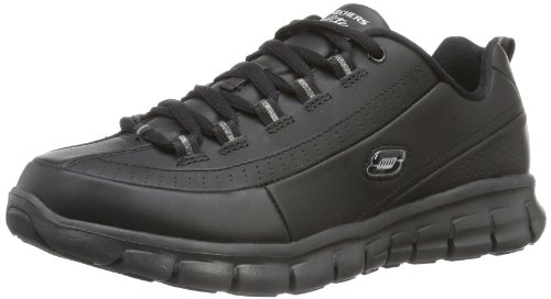 Skechers - Sneaker SynergyElite Status, Donna, Nero (Schwarz (Bbk)), 38