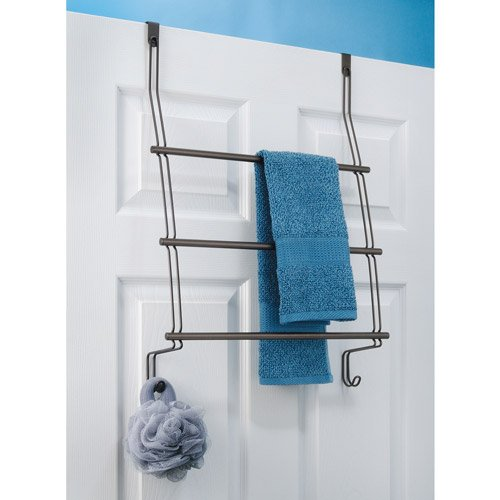 Over The Door Towel Rack Bathroom: Over The Door 3-Tier Towel Bar Rack Bath Accessory