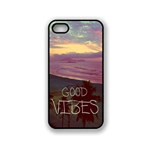 Deal Market LLC (TM) Good Vibes Case for Apple Iphone 6 - 4.7 Inch, Silicone TPU Cover Includes 2 Screen Protectors and Cleaning Cloth, Ships From USA