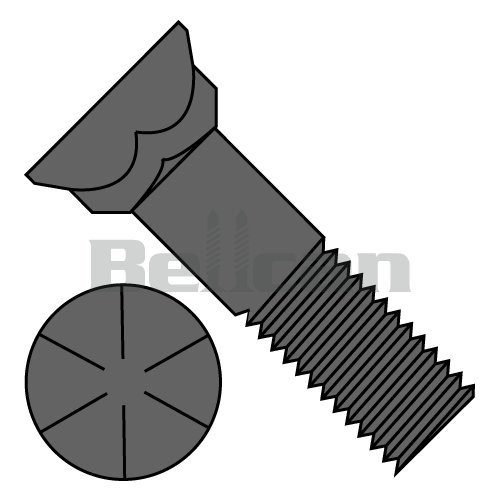 "GRADE 5 50 3//4/""-10x3/"" Carriage Bolts - Plain"