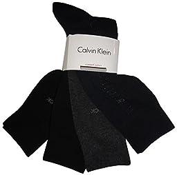Calvin Klein Mens (Bonus 4 Pack) Cotton Dress Socks Asst One Size
