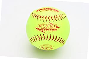 Buy Diamond Sports 11RFPSC 47 375 Super Synthetic Cover Fastpitch Softball, Dozen... by Diamond Sports