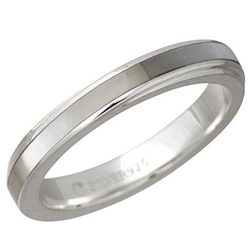 AQUA SILVER アクアシルバー ホワイトシェル シルバー リング 指輪 7~13号 ASR157-WH
