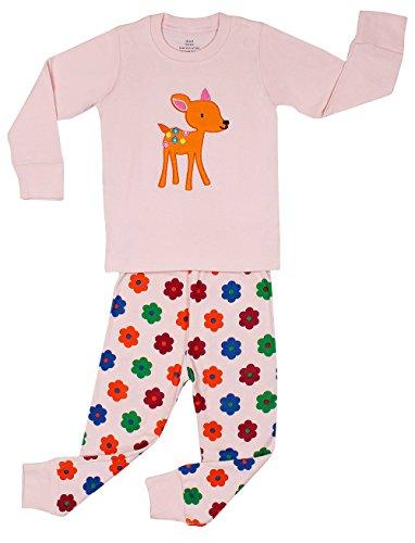 "Elowel Girls ""Bambi"" 2 Piece Pajama Set 100% Cotton - 8 Years front-28197"