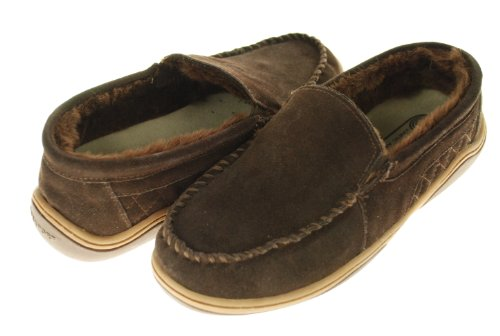 Cheap Rockport Indoor/Outdoor Slippers-Suede Moccasins (B005566V5C)