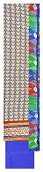 Sainex Women's Jute Unstiched Dress Material (Blue)