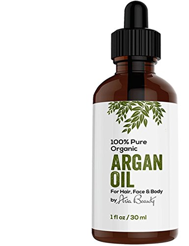 Virgin Argan Oil Premium Quality 100% Organic For Hair Skin Face & Nails - Best Moroccan Anti-Aging Anti-Wrinkle...