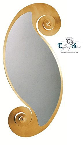 OVAL WALL MIRROR ITALIAN DESIGN CIRCE - GOLD - 130X55 CM