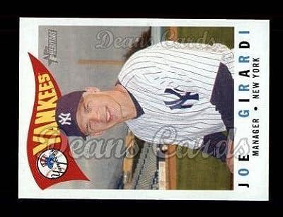 2009 Topps Heritage # 217 Joe Girardi New York Yankees (Baseball Card) Dean's Cards 8 - NM/MT