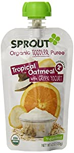 Sprout Oatmeal with Greek Yogurt, Tropical, 4.22 Ounce (Pack of 5)