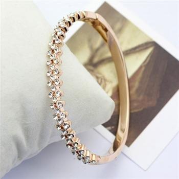 18ct Gold Bracelet With Swarovski Crystals