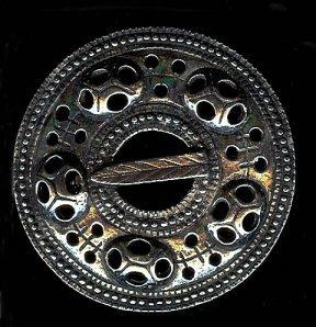 Bygde Pewter Brooch -Shield of Valhalla