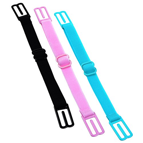 Buy Bargain KLOUD City® 3 Pcs Non-slip Women's Elastic Bra Strap Holder (Black#Pink#Blue)