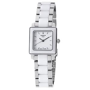 Amazon.com: Tissot Women's T0643102201100 Cera Square White Dial