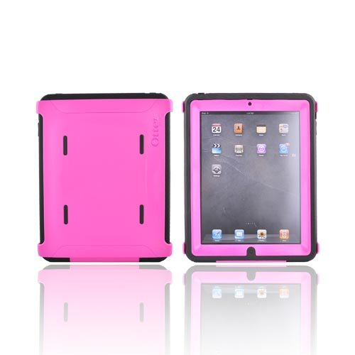 PINK BLACK Otterbox Defender Hard Case Cover w Screen Protector For iPad 1