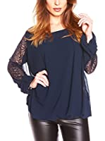 JUST SUCCES Blusa Helena (Azul Oscuro)