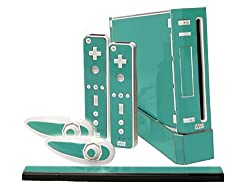 Nintendo Wii Skin New Teal Turquoise System Skins Faceplate Decal Mod