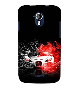 printtech Superfast Car Back Case Cover for Micromax Canvas Magnus A117