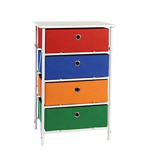 RiverRidge Kids Sort & Store 4-Bin Organizer, Boys (Clothes Organizer For Kids compare prices)