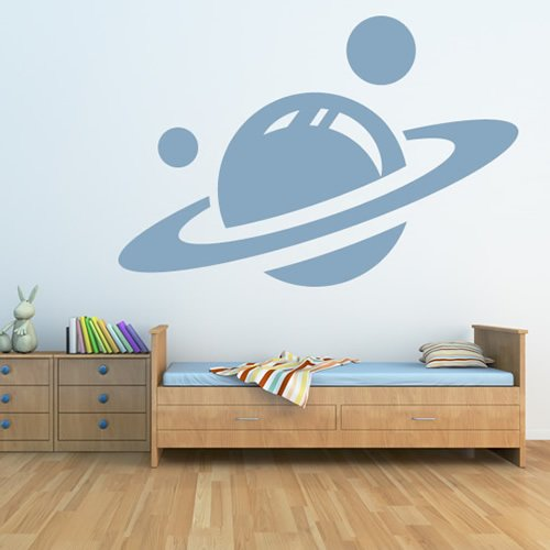 Saturn Wall Stickers Space Wall Decal Art available in 5 Sizes and 25 colors Medium Light Orange