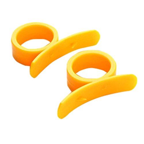 V-EWIGE 10pcs Creative Cuisine Gadgets Type Bague Astucieusement Ouvrir Orange Peel orange Nouveau périphérique