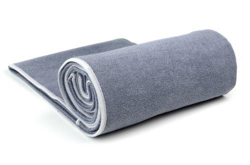 Yogarat Charcoal Ash 100 Microfiber Yoga Towel Xl 26 X 85