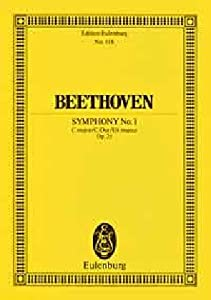 Symphony No1 In C Major Op 21 Miniature Score from Edition Eulenburg