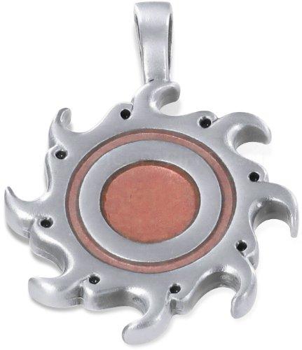 Flaming Sun Bico Pendant - Red