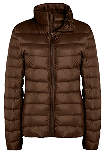 ZSHOW Women's Outwear Down Coat Lightweight Packable Powder Pillow Down Jackets, US X-Large, Coffee (Details Coats compare prices)