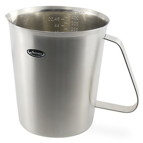 Measuring Cup, Newness Stainless Steel Measuring Cup with Marking with Handle, 48 Ounces (1.5 Liter, 6 Cup) (Glass Quart Pitchers compare prices)