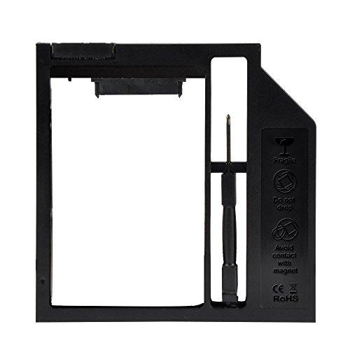 EHZ-Shop 9,0 mm universale secondo HDD SSD SATA-Caddy per Hard disk, per CD/DVD-ROM Drive Bay ottico
